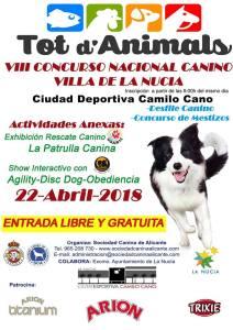 Que hacer en La Nucía, VIII Concurso nacional Canino en la Ciudad Deportiva Camilo Cano