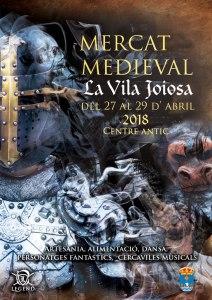 cartel de la edición de 2018 del Mercat Medieval de Villajoyosa