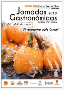 """Jornadas Gastronómicas 2018 """"El despertar dels Sentits"""""""