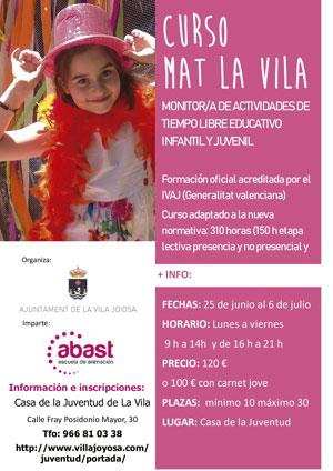 Curso de Monitor de Tiempo Libre organizado en La Vila Joiosa