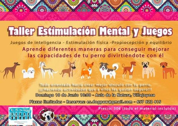 Estimulacion para perros en villajoyosa, cartel