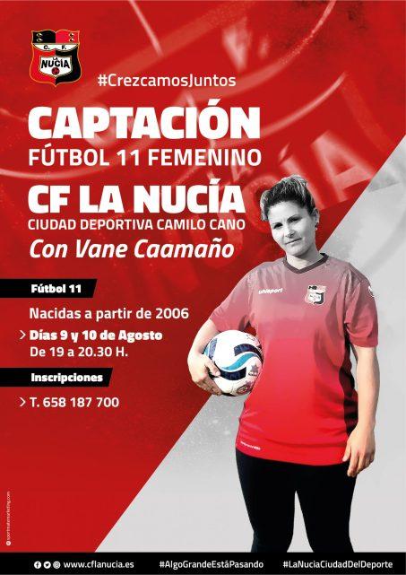 Captación femenina del club de fútbol La Nucía