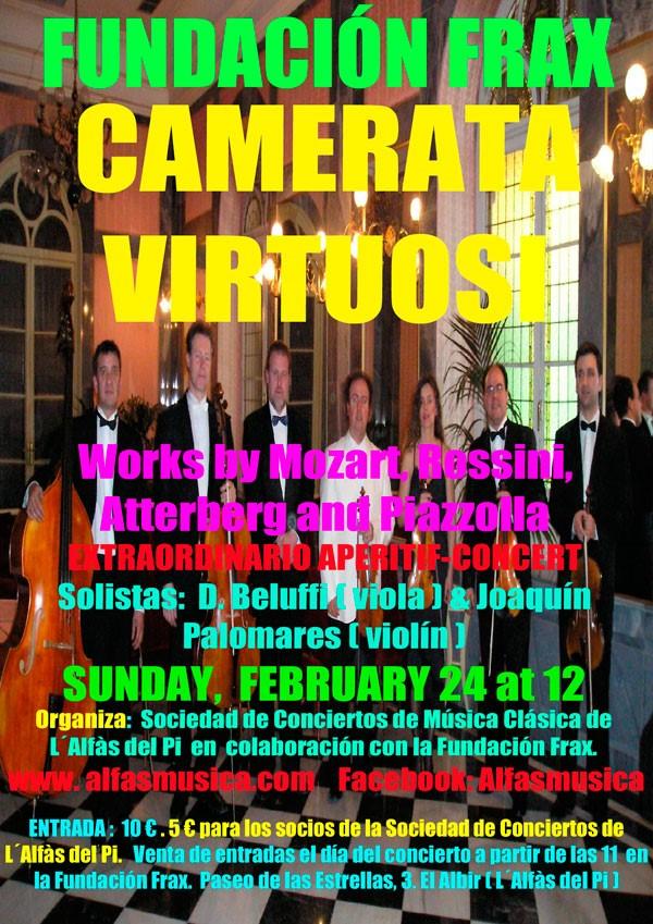 Concierto-aperitivoa cargo de Camerata Virtuosi Fundacion frax Alfas del pi 2019