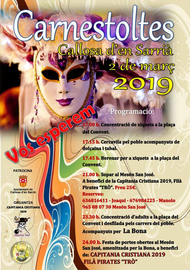 Fiesta CARNAVAL callosa 2019