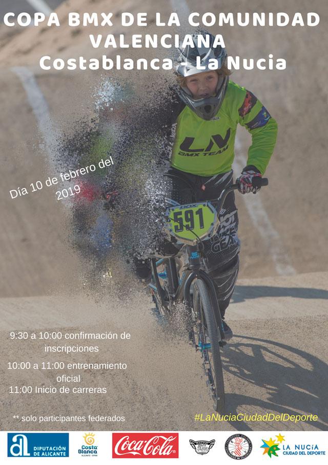 La Nucia Cartel BMX copa comunitat valenciana 2019