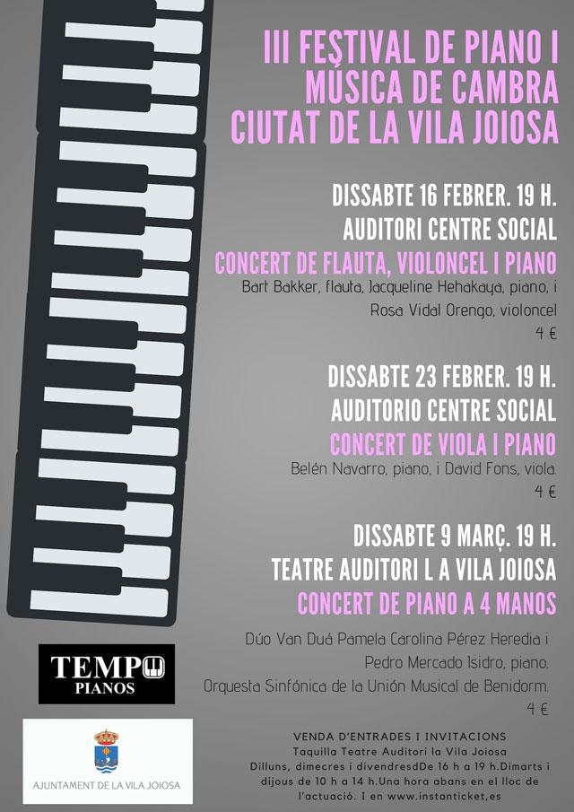 festival de piano y musica de camara ciutat vila Joiosa 2019