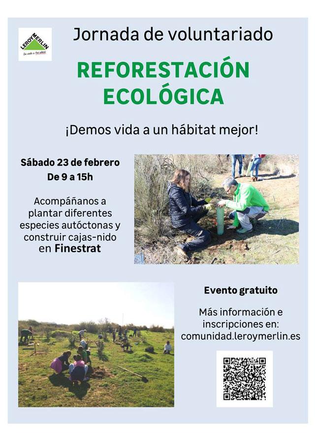 jornada de reforestación en la Font del Molí Leroy Merli Finestrat 2019