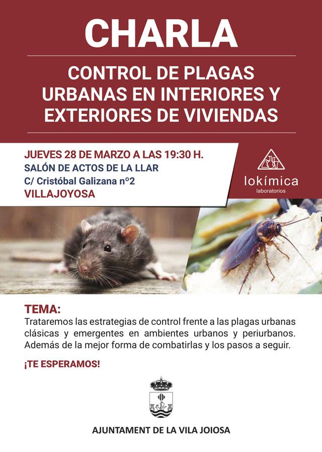 Charla control plagas urbanas 2019