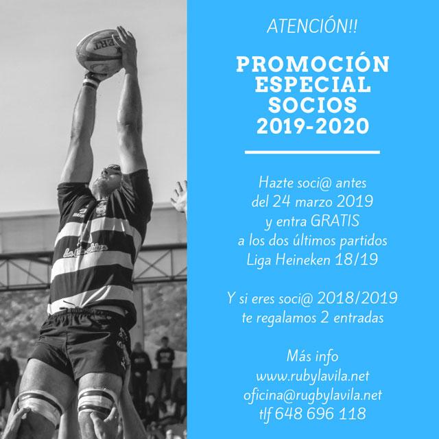 Promo socios 2019 2020 Rugby La Vila