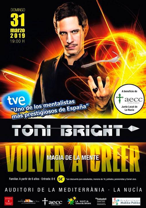 Toni Bright en Auditori de la Mediterrania