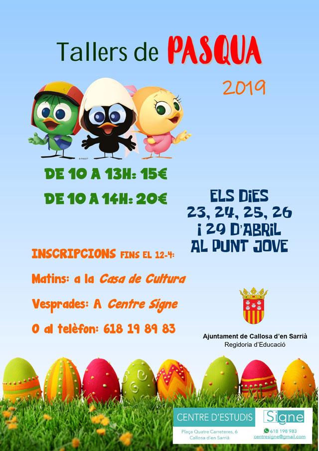 Callosa talleres de Pascua 2019
