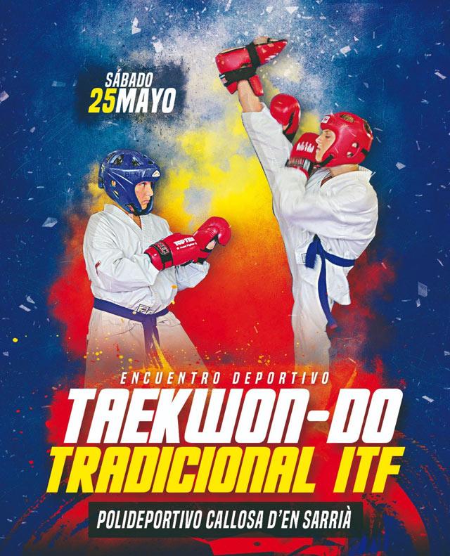 Callosa acoge el próximo 25 de mayo un encuentro de Taekwon-do Tradicional ITF
