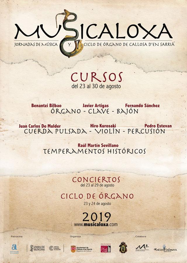 Musicaloxa regresará a Callosa d'en Sarrià del 23 al 30 de agosto