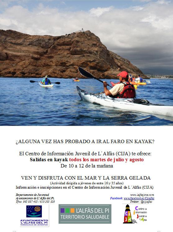 Alfas pi kayak verano 2019
