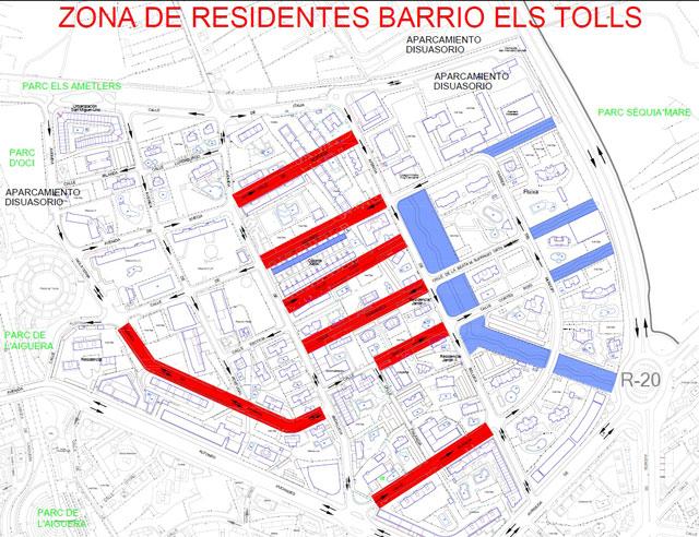 Benidorm zona residente els tolls 2019