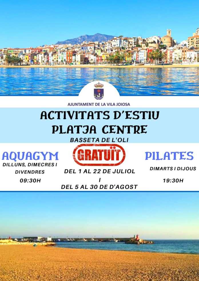 actividades playa centro la vila joiosa 2019