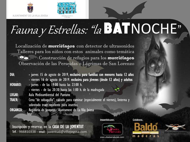 Fauna y Estrenas Batnoche La Vila Joiosa 2019