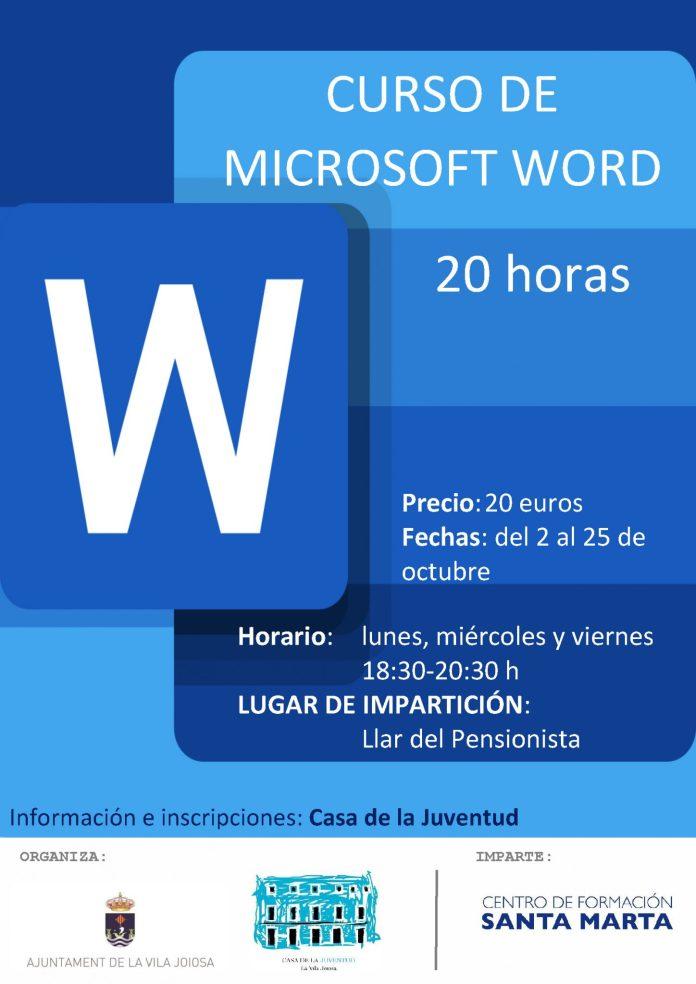 Cuso de ofimática de Microsoft Word en Villajoyosa