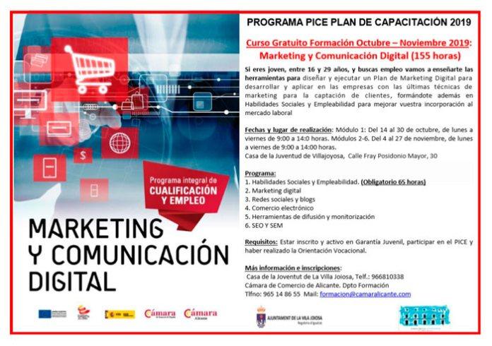 Curso gratuito de formación en Marketing y Comunicación Digital