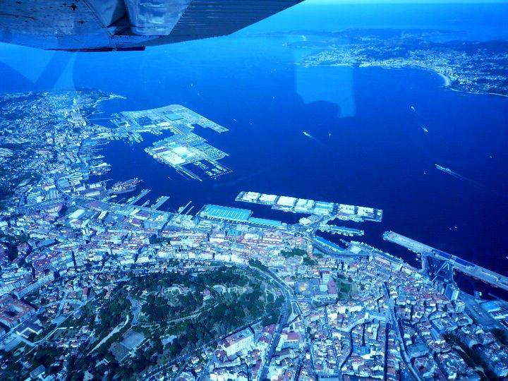 Volar en avioneta por Vigo