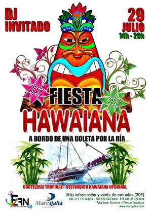 Fiesta Hawaiana a bordo de la goleta Nieves