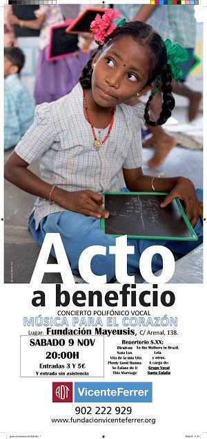 Concierto Solidario a beneficio de la Fundación Vicente Ferrer