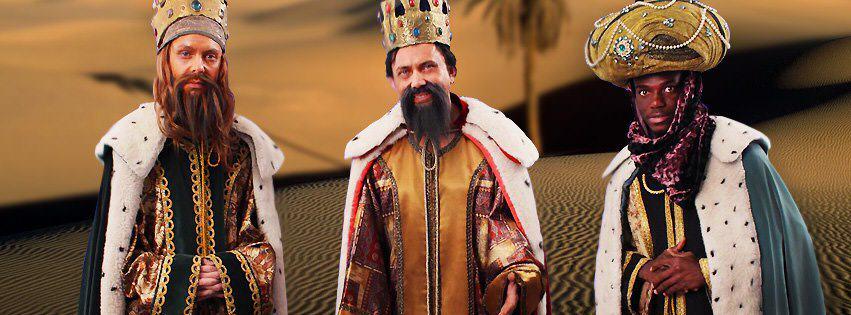 Los Reyes magos por los alrededores de Vigo