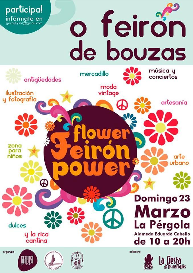 Feirón de Bouzas Mercadillo Flower Power