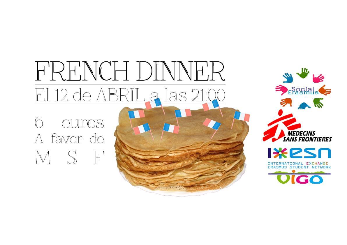 French dinner a favor de Médicos sin fronteras