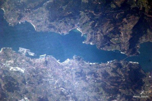 Ría de Vigo desde el espacio