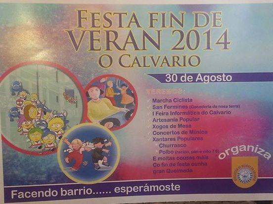 Fiesta fin de verano 2014 del Calvario