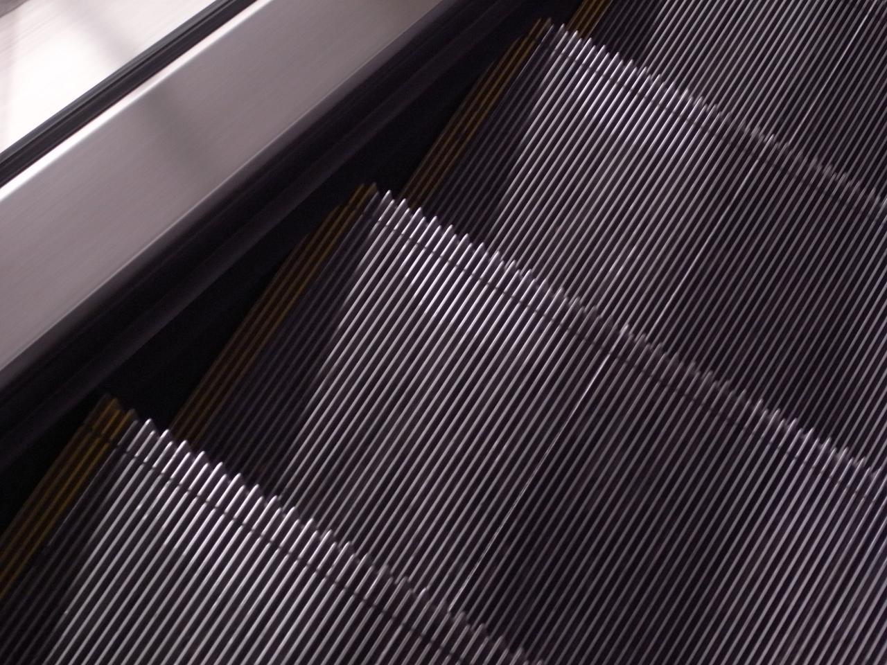 Primera avería en las escaleras mecánicas