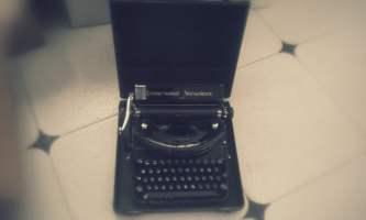 Exposición de máquinas de escribir antiguas