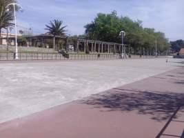 Reparación pista de patinaje en Samil