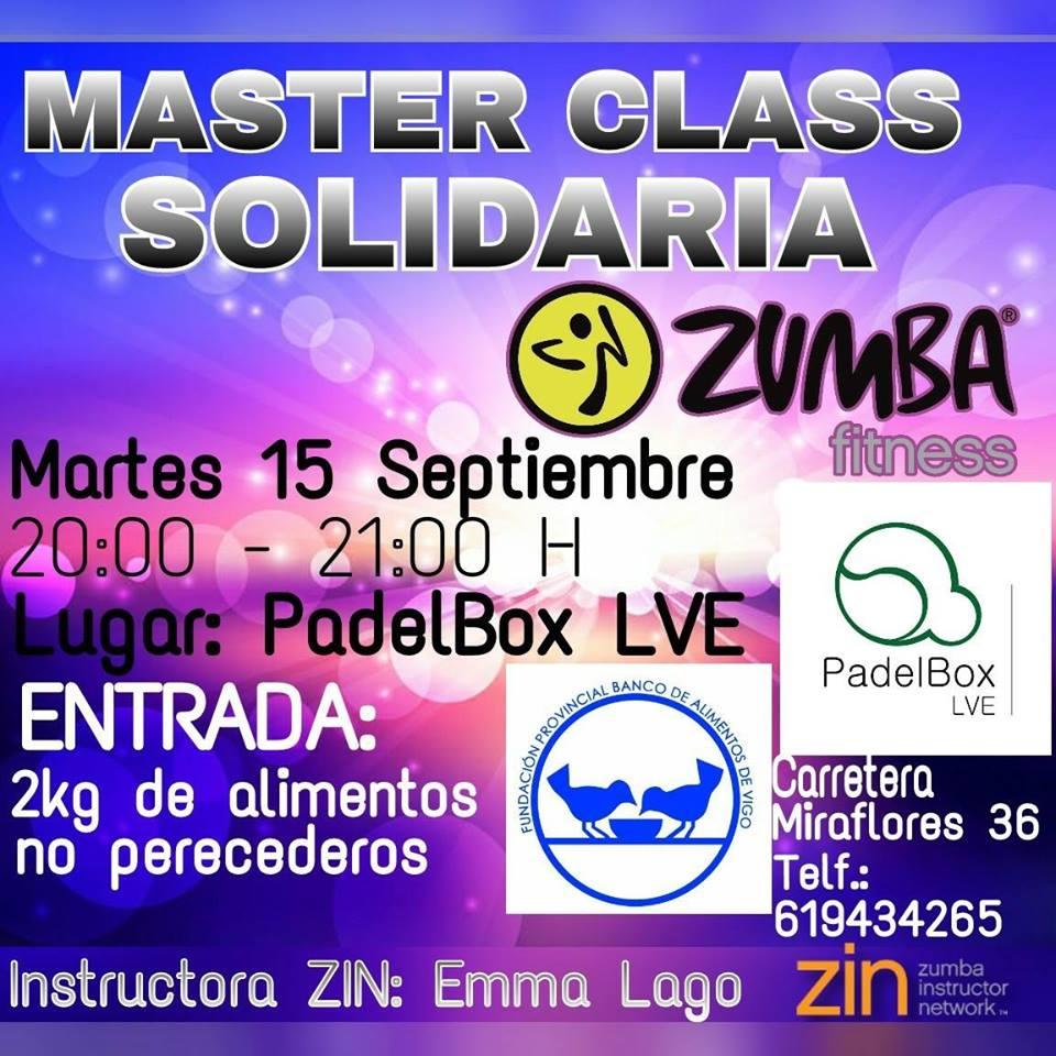 Master class solidaria de Zumba