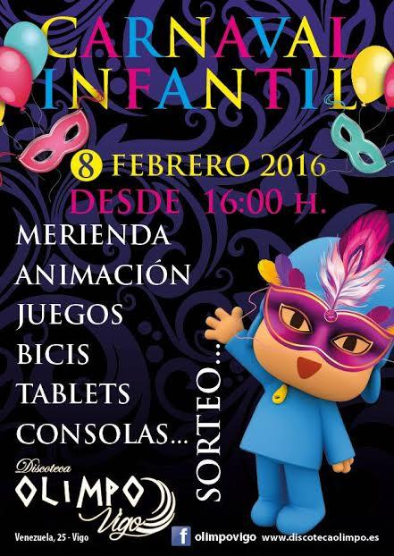 Carnaval Infantil 2016 en Discoteca Olimpo