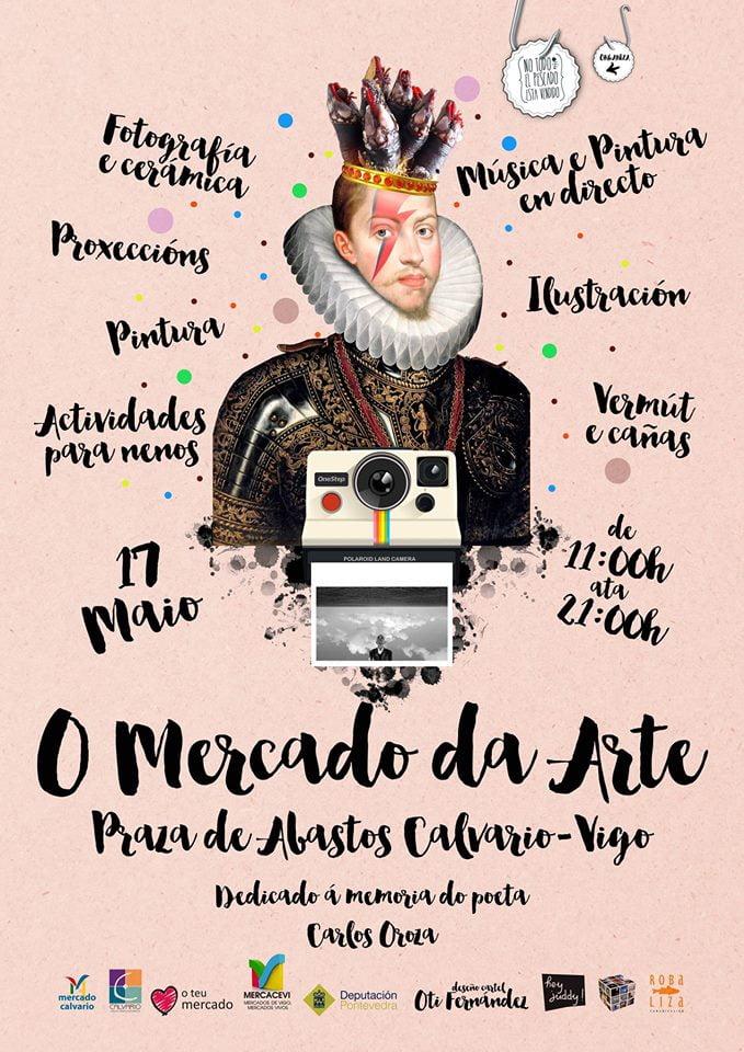 letras galegas en el Mercado do Calvario