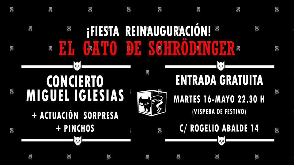 Concierto Miguel Iglesias en El Gato de Schrödinger