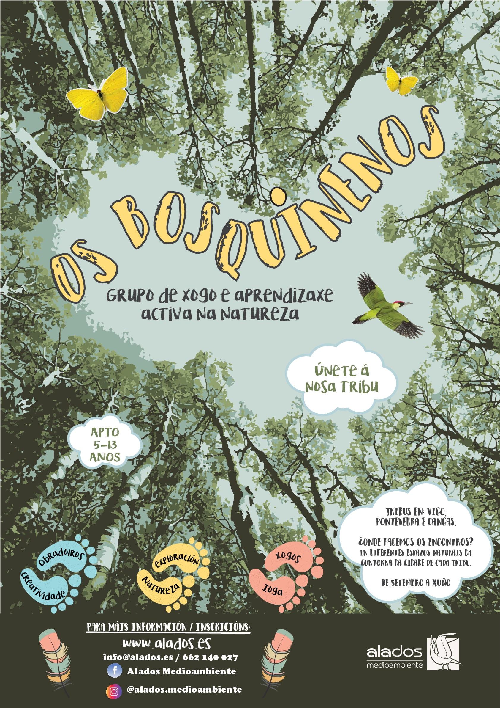 OS BOSQUINENOS – Grupo de xogo e aprendizaxe activa na Natureza