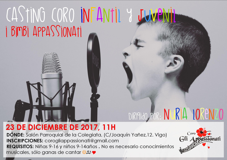 Casting Coro infantil y juvenil I Bimbi Appassionati