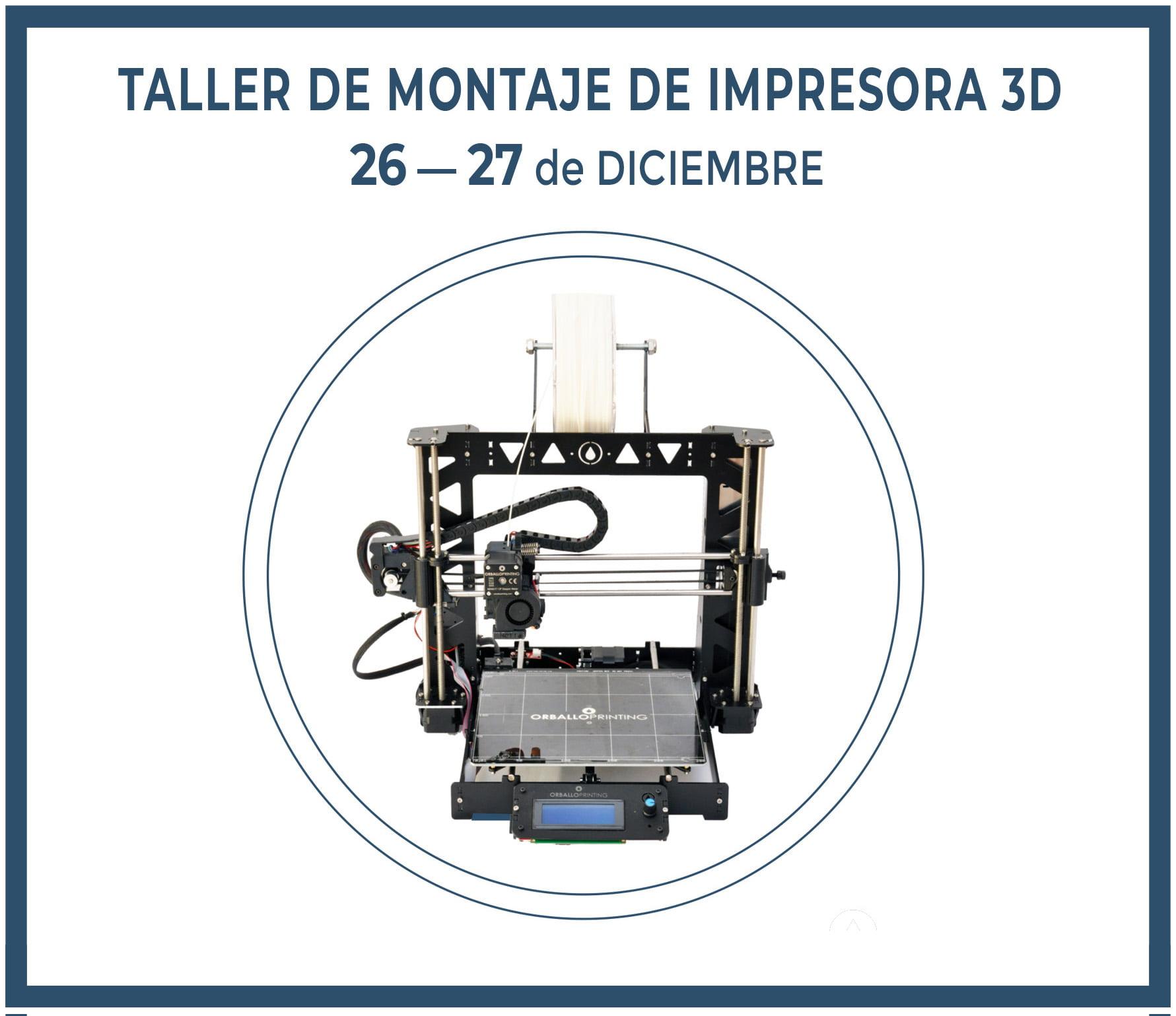 Taller de montaje de impresora 3D