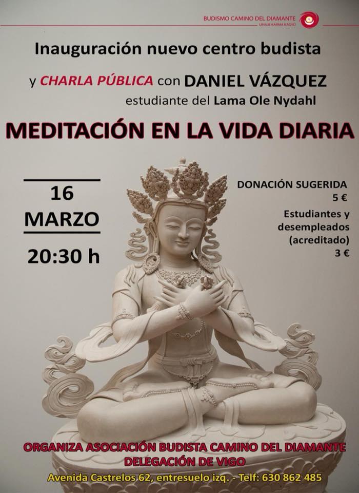 """Charla Pública: """"Meditación en la Vida Diaria"""""""