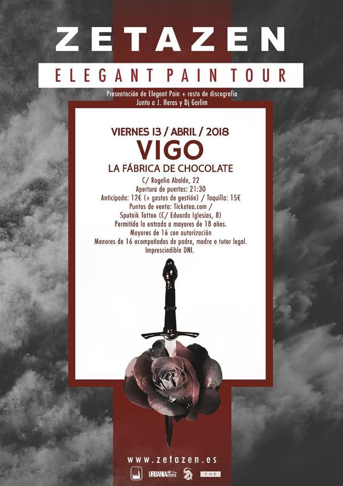 Zetazen / Presentación Elegant Pain en Vigo