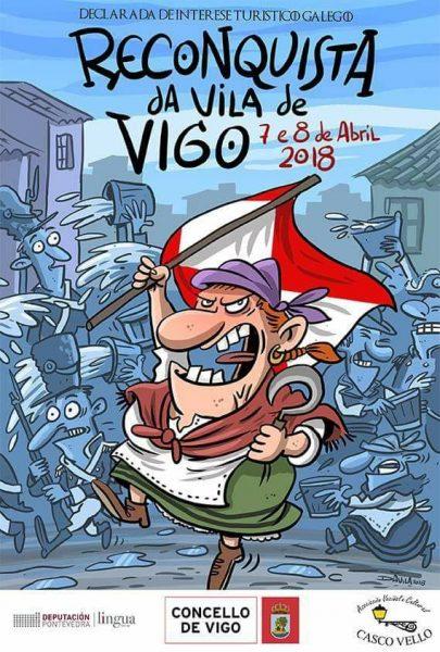 Cartel de la Reconquista de Vigo 2018