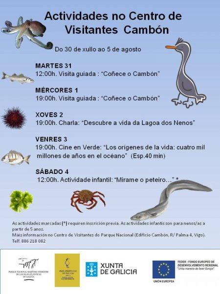 Programa de actividades no Centro de Visitantes das Illas Atlánticas