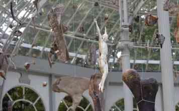 Parte de la exposición del Palacio de Cristal