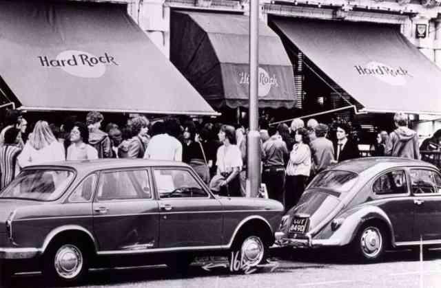 Así de bonito lucía el primer Hard Rock Cafe en Londres