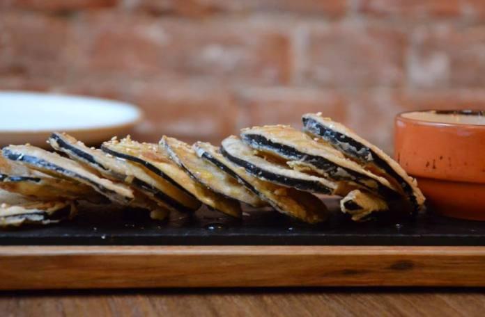 Berenjena en tempura de Pikda
