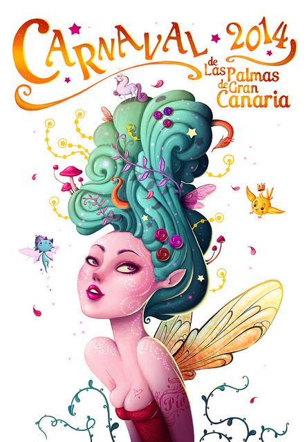 Cartel oficial del Carnaval 2014 en Las Palmas de Gran Canaria.