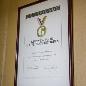 Certificado do Guinness Book